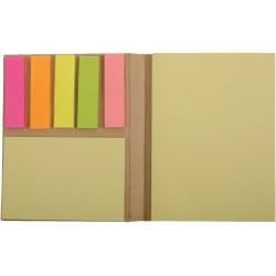 , Mini livre avec notes adhésives et signets colorés adhésifs, Busrel