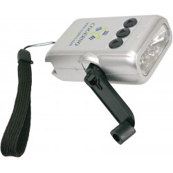 , 5 LED crank flashlight, Busrel