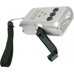 , Lampe de poche à manivelle 5 lumières DEL, Busrel