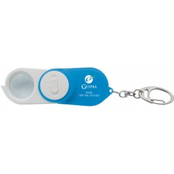 , Money detector key chain with magnifier white LED and UV LED, Busrel
