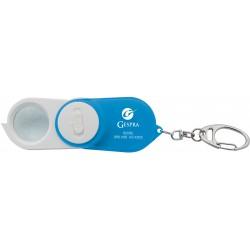 , Porte-clés détecteur de faux billets avec lumière DEL UV, lumière DEL blanche et loupe pivotante, Busrel