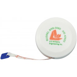 ", Tape measure 1.5 m/60\"" fibreglass, Busrel"