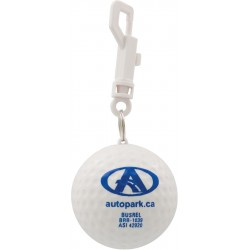 , Balle de golf contenant un poncho imperméable en PVC et un crochet, Busrel