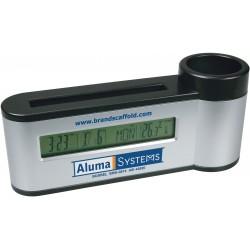 , Porte-stylos et cartes avec horloge calendrier thermomètre numérique, Busrel