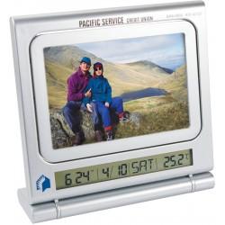Horloge, thermomètre cadre photo, tableau mémo