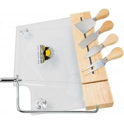 , Glass cheese board set - 4 utensils, Busrel