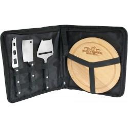 Plateau à fromages avec étui (3 couteaux)