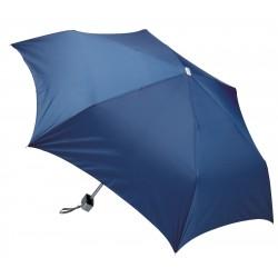 """Parapluie de poche manuel avec étui en plastique argenté - 43"""""""