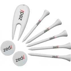 , 5 tees + 2 marker + 1 Divot repair tool, Busrel