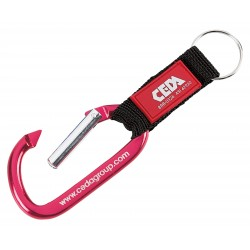 , Carabiner with web strap, Busrel