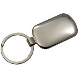 Porte-clés rectangulaire en metal deux tons
