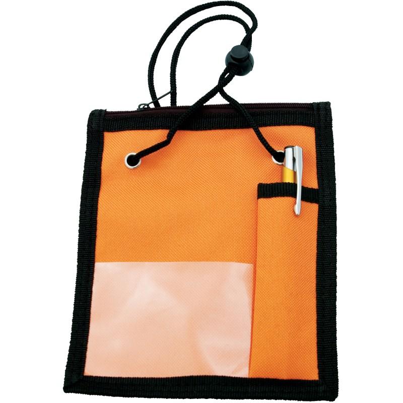 Porte carte en polyester avec fen tre pvc poche for Fermeture porte fenetre pvc