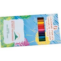 Boîte de 12 crayons de couleur pré-taillés
