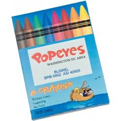, Boîte de 8 crayons de cire non toxiques, Busrel