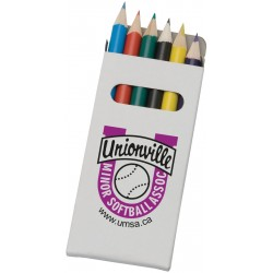 , Boxed 6 colored pencils set, Busrel