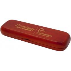 Coffret cadeau en bois de rose avec un stylo et un pousse-mine de bois de rose