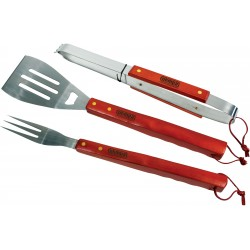 , 3 Pieces BBQ tool set in textile travel case, Busrel