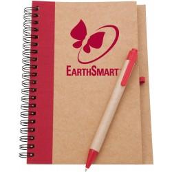 Bloc-note de papier et couverture en carton recyclé avec stylo à fût en carton