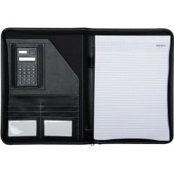 Portfolio en simili cuir avec calculatrice