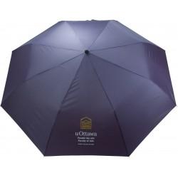 """, Parapluie de poche automatique avec poignée canne en bois - 43\\"""", Busrel"""