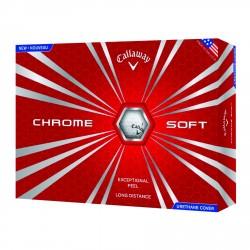 , Balles de golf Callaway HEX CHROME SOFT - Boîte de 12 balles, Busrel