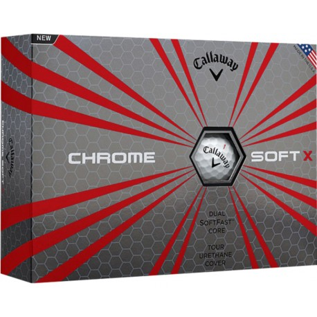 , Golf balls Callaway HEX CHROME SOFT X - Box of 12 balls, Busrel